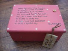 Shabby Personalised Chic Jewellery Box.. Gift for the Bride From her Bridesmaid.